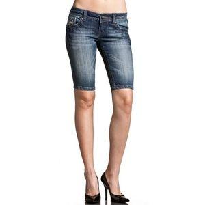 Miss Me Sequin Bermuda Denim Shorts Stretch Jean J